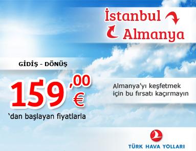 türk hava yolları istanbul-almanya kampanyası