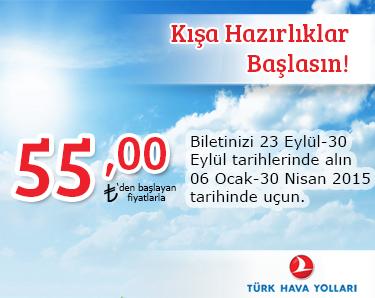 türk hava yolları yurt içi kış kampanyası