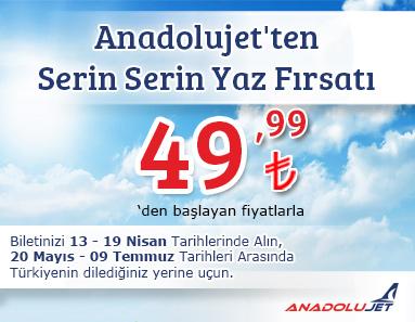 AnadoluJet Yaz Kampanyası