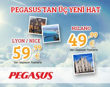 Pegasus`tan 3 Yeni Hat