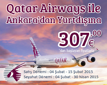 Qatar Airways ile Ankara Kalkışlı Uçuşlarda Kampanya