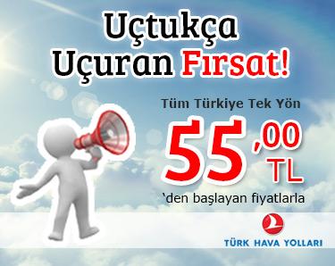 THY 55 TL Yurtiçi Kampanyası